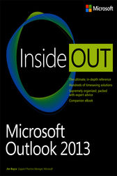 Microsoft Outlook 2013 Inside Out by Jim Boyce