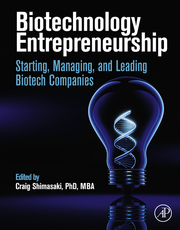 Download Ebook Biotechnology Entrepreneurship by Craig Shimasaki Pdf