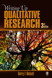 Writing Up Qualitative Research by Harry F. Wolcott