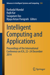 Intelligent Computing and Applications by Durbadal Mandal