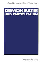 Demokratie und Partizipation by Oskar Niedermayer