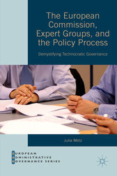 The European Commission, Expert Groups, and the Policy Process by Julia Metz