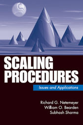 Scaling Procedures by Richard G. Netemeyer