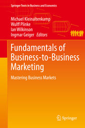 Fundamentals of Business-to-Business Marketing by Michael Kleinaltenkamp