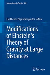 Modifications of Einstein's Theory of Gravity at Large Distances by Eleftherios Papantonopoulos