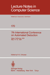 7th International Conference on Automated Deduction by R. E. Shostak