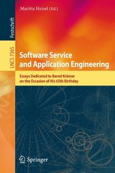 Software Service and Application Engineering by Maritta Heisel