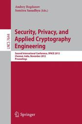 Security, Privacy, and Applied Cryptography Engineering by Andrey Bogdanov