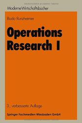 Operations Research I by Bodo Runzheimer