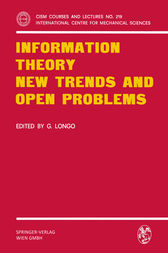 Information Theory New Trends and Open Problems