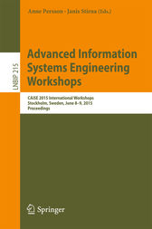 Advanced Information Systems Engineering Workshops by Anne Persson