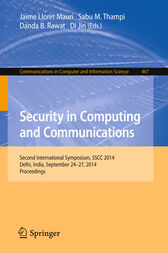 Security in Computing and Communications by Jaime Lloret Mauri
