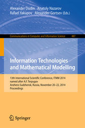 Information Technologies and Mathematical Modelling by Alexander Dudin