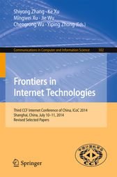 Frontiers in Internet Technologies by Shiyong Zhang