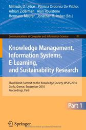 Knowledge Management, Information Systems, E-Learning, and Sustainability Research by Miltiadis D. Lytras