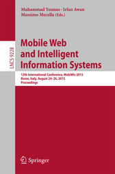 Mobile Web and Intelligent Information Systems by Muhammad Younas