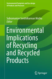 Environmental Implications of Recycling and Recycled Products by Subramanian Senthilkannan Muthu