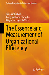 The Essence and Measurement of Organizational Efficiency by Tadeusz Dudycz