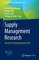 Supply Management Research by Ronald Bogaschewsky