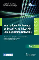 International Conference on Security and Privacy in Communication Networks by Jing Tian