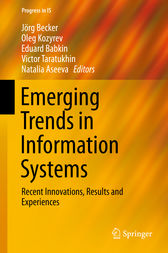 Emerging Trends in Information Systems by Jörg Becker
