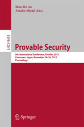 Provable Security by Man-Ho Au