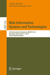 Web Information Systems and Technologies by Valérie Monfort