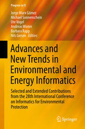Advances and New Trends in Environmental and Energy Informatics by Jorge Marx Gomez
