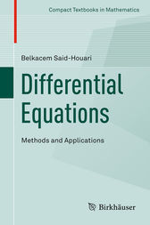 Differential Equations: Methods and Applications by Belkacem Said-Houari