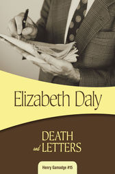 Death and Letters by Elizabeth Daly