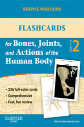 Flashcards for Bones, Joints, and Actions of the Human Body - E-Book by Joseph E. Muscolino