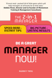 Be a Great Manager – Now! by Audrey Tang
