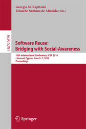 Software Reuse: Bridging with Social-Awareness by Georgia M. Kapitsaki