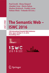 The Semantic Web – ISWC 2016 by Paul Groth
