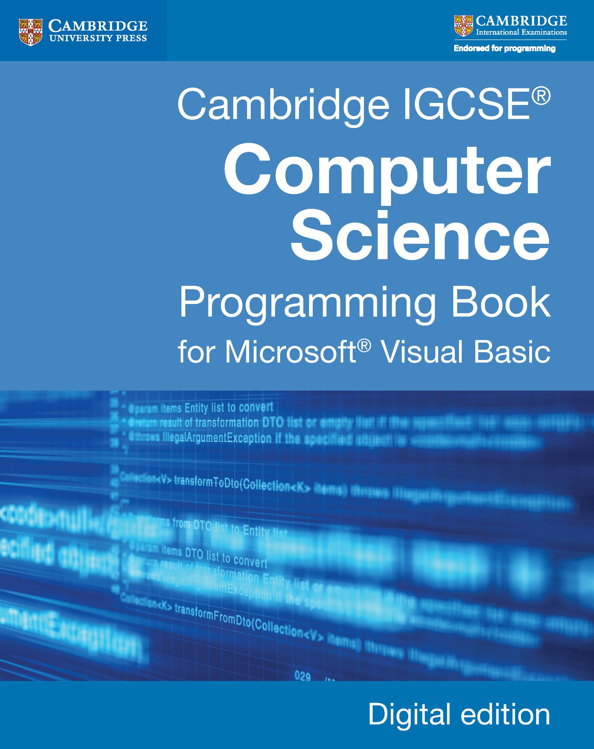 Cambridge IGCSE® Computer Science Programming Book Digital edition