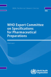 WHO Expert Committee on Specifications for Pharmaceutical Preparations by WHO