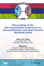 Proceedings of the 6th International Conference on Recrystallization and Grain Growth (ReX&GG 2016) by Elizabeth Holm