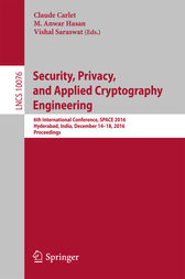 Security, Privacy, and Applied Cryptography Engineering by Claude Carlet
