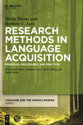 Research Methods in Language Acquisition by Barbara Lust